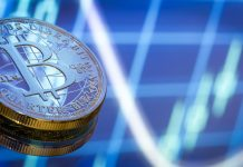 Bitcoin BTC graf coin mince kryptoměny