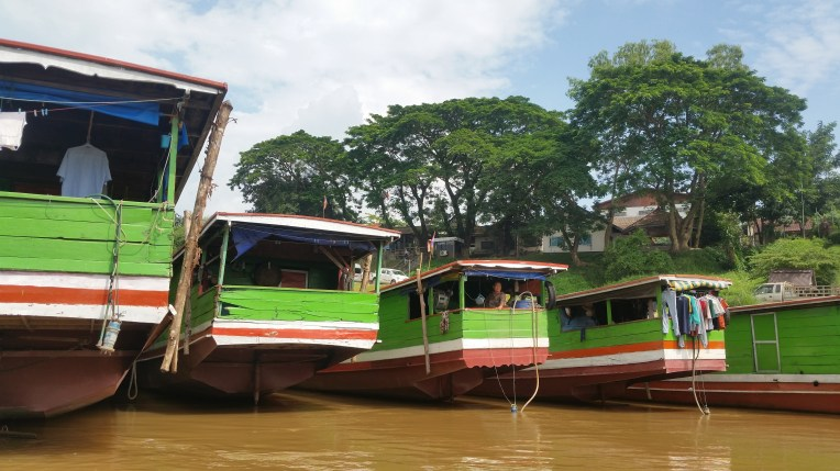 Slowboats lined up in a row awaiting their day to launch.