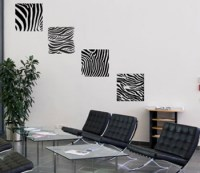Four Zebra Stripes | Wall Decals - Trading Phrases