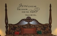 Jesus Loves Me   Wall Decals - Trading Phrases
