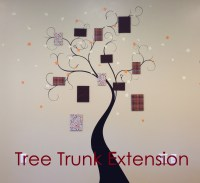 Tree Trunk Extension Wall Decal - Trading Phrases