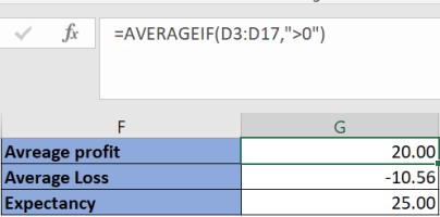 Calculate Expectancy in an Excel Sheet 3