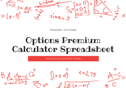 Options Premium Calculator