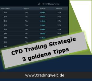 CFD Trading Strategie für Anfänger