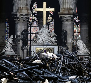 Notre-Dame High Altar after Fire