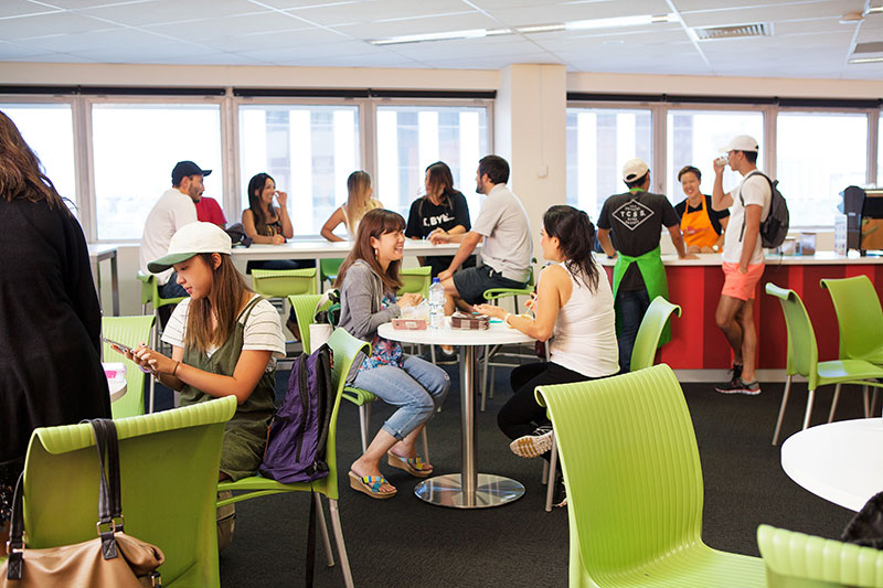Enjoy breaks at the student lounge