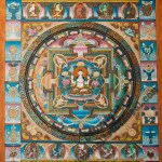 Mandala with eight auspicious symbols