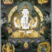 Four Armed Avalokiteshvara Thanka