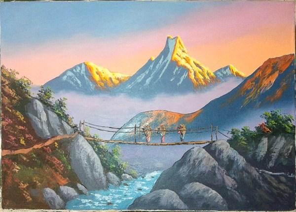 Himalayan Mountains Nepal Paintings