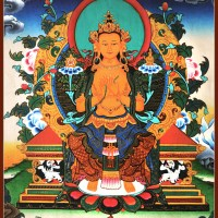 Thanka of Maitreya the Buddha of the future