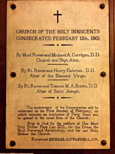 Holy Innocents Altars Consecration- 114th Anniversary