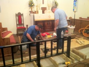 altar rail reconstruction