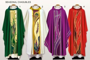 The 1960 and 1970s Priestly Vestments Designs Are Really 'Groovy'_But arent we done with that now  fabric_chasubles-vestments_02