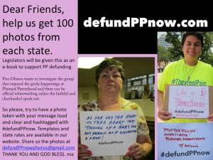 Defund PP Photocampaign