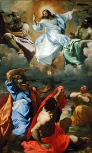 ALG169046 The Transfiguration, 1594-95 (oil on canvas) by Carracci, Lodovico (1555-1619) oil on canvas 438x268 Pinacoteca Nazionale, Bologna, Italy Alinari Italian, out of copyright