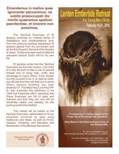 Lenten Embertide Allentown NJ 02-19 to 02-21