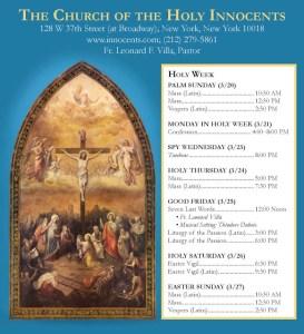 Holy Week at Holy Innocents 2016