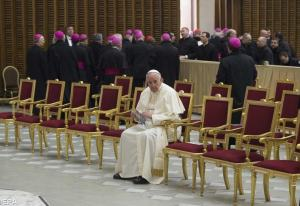 Pope Sits Alone