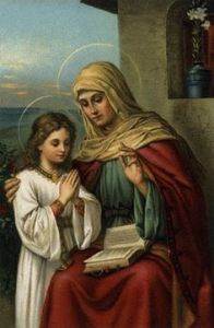 Saint Anne teaching the Mother of God her lessons