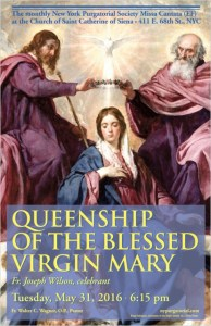 The Queenship Of Mary - May 31st Mass Flyer - Saint Catherine Of Siena
