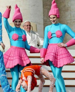 The Vatican Arranges A Transgenger Circus Performance For Our Popes Entertainement As He Sits By 'In Silence'