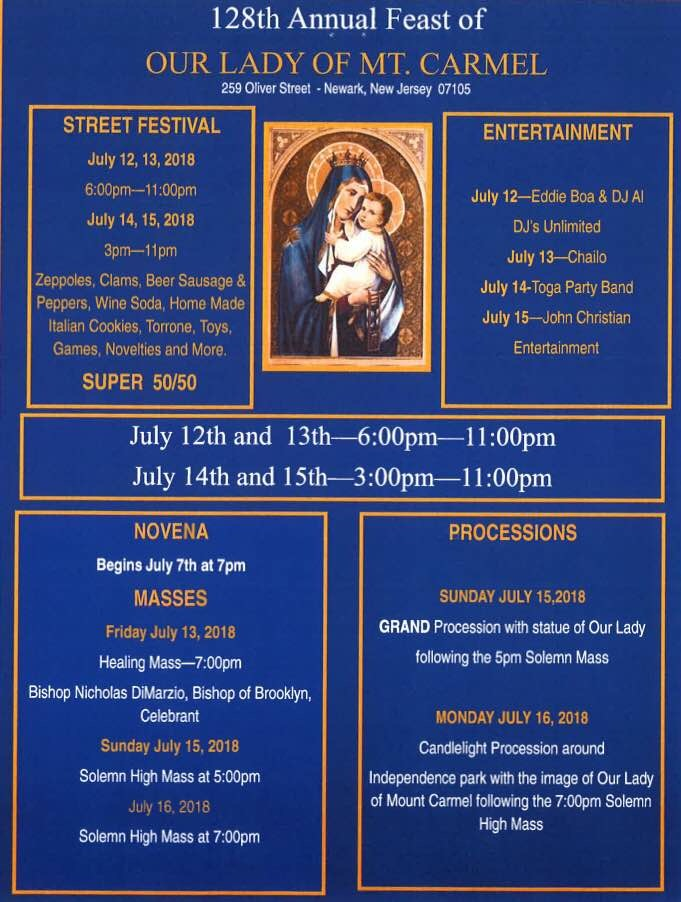 Feast Of OL Of Mount Carmel Newark 2018 | Traditional Catholics Emerge