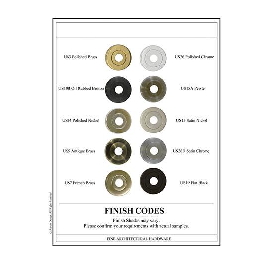 Finish Codes Traditional Door
