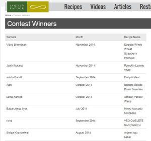 Vidya_SanjeevKapoor_Winner