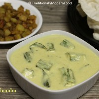 Vendakkai Mor Kuzhambu   Ladies Finger ( Butter Milk/ Yogurt) Kulambu