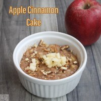 Apple cinnamon cake - Microwave & Eggless
