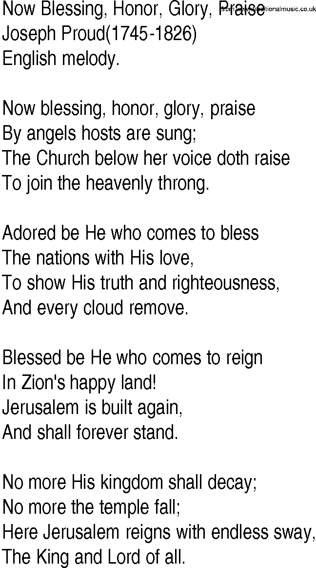 Blessing And Honor Lyrics : blessing, honor, lyrics, Gospel, Lyrics, Blessing,, Honor,, Glory,, Praise, Joseph, Proud
