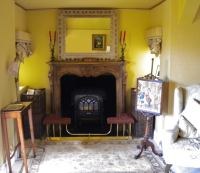 How to Shabby Chic a Fireplace and Gold Paint Effect by ...