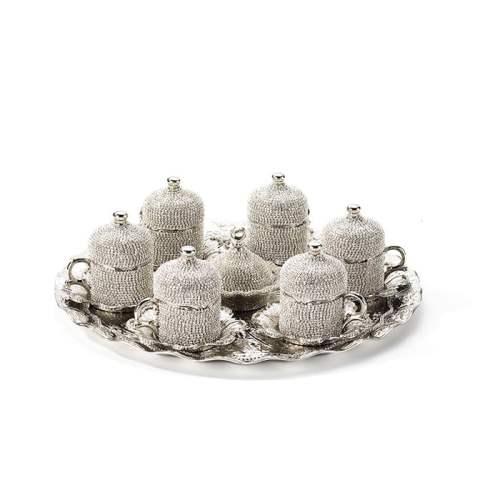 Swarovski Stone Coated Unique Coffee Cups Set