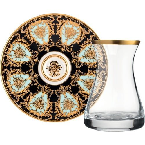 12 Pcs Glazze Prestige Crystal Luxury Tea Set
