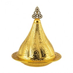 Golden Color Decorative Snack Serving Bowl
