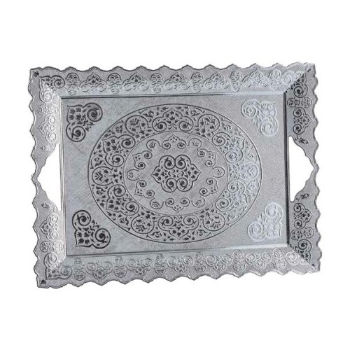 Authentic Silver Color Tea & Coffee Serving Tray
