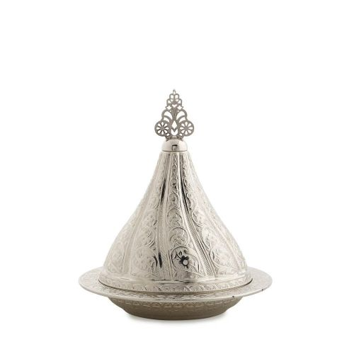 Silver Colour Large Decorative Snack Serving Bowl
