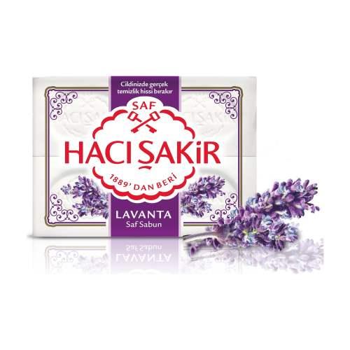Haci Sakir Natural Lavender Soap - 4 Bars