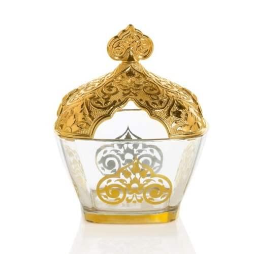 Gold Color Vintage Sugar Bowl