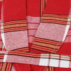 Classic Red Color Peshtemal Bathrobe