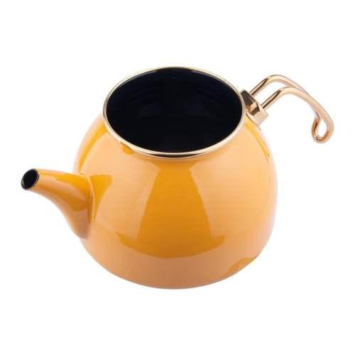 Yellow Color Glory Enamel Turkish Tea Pot Kettle