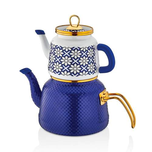 Glaze Dark Blue Enamel Turkish Tea Pot Kettle