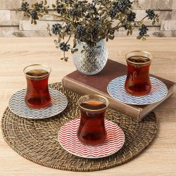 Bernardo Assortment 12 Pcs Turkish Tea Set