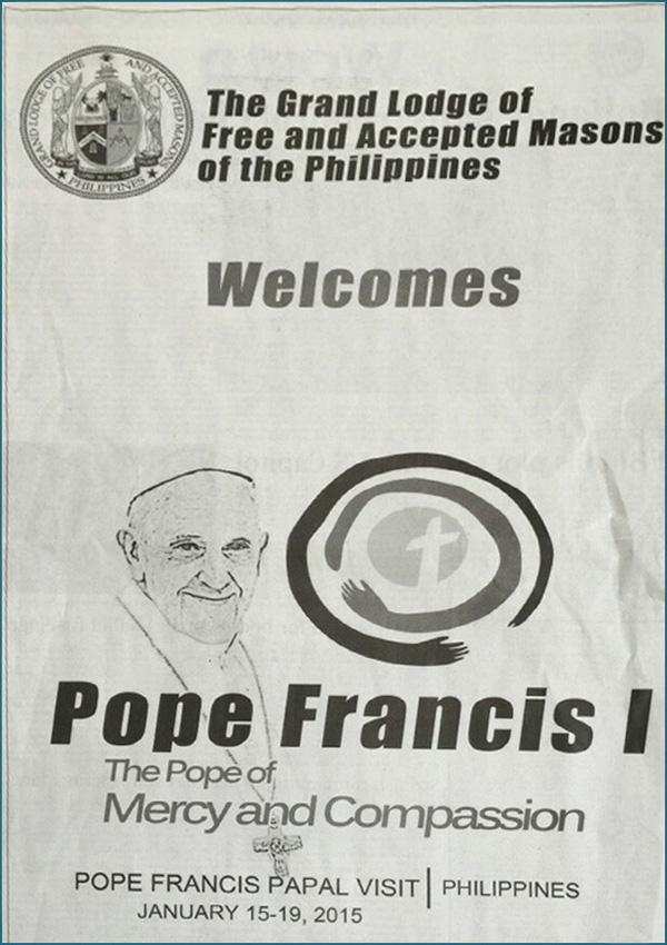 Masonería de Filipinas bienvenida Francisco