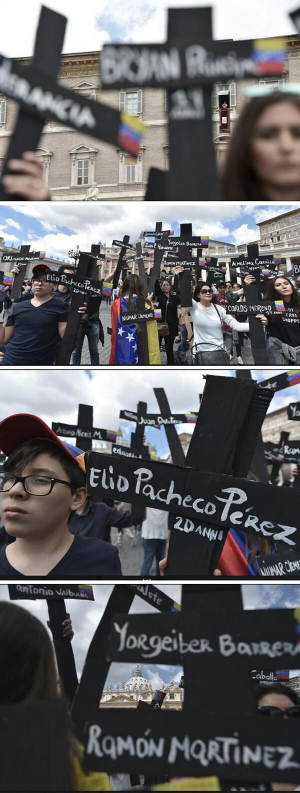 Venezuela - protesta en el Vaticano 2