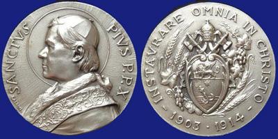 San Pío X, medalla