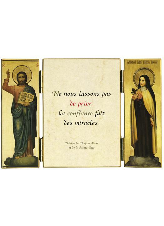 Sainte Thérèse De Lisieux Prière : sainte, thérèse, lisieux, prière, Triptyque, Religieux, Citation, Thérèse, Lisieux, Prière, Produits, Monastiques