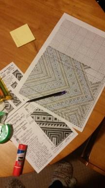 Draft copied from Jaquetta Nisbett's supplementary warp weaving video tutorial
