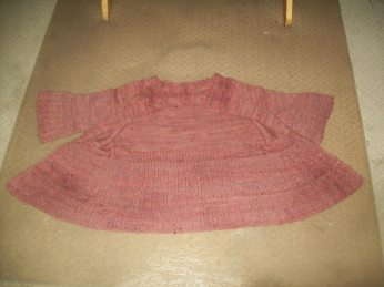 hanspun sweater stretched out to dry
