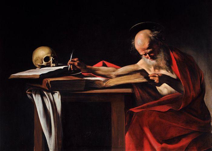 CaravaggioHieronxmusschreibend1606